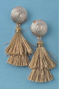 Natural Beauties Tassel Earrings