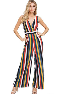 Falling for Stripes Jumpsuit