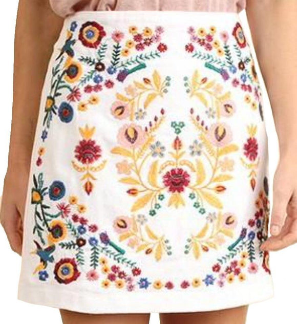 Latest Obsession Embroidered Skirt