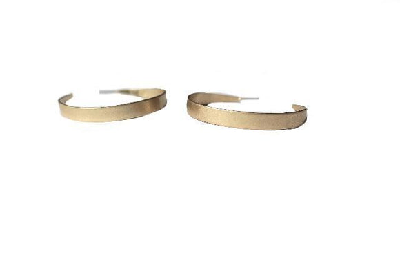 Hyperloop Hoop Matte Gold Earrings