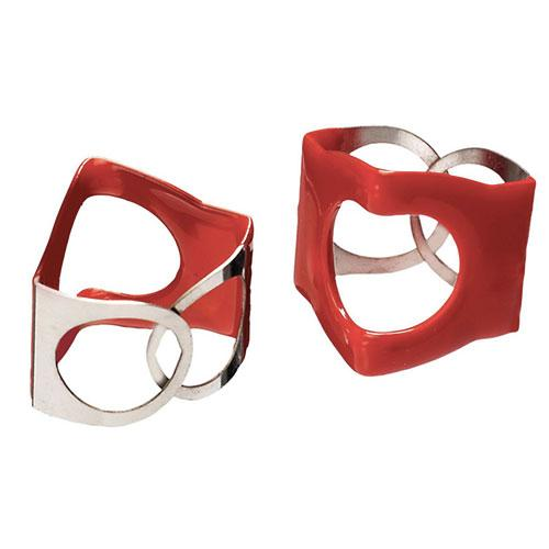 EZ Wing Nut for Cymbal Stand Top PinchClip Red 2 pack
