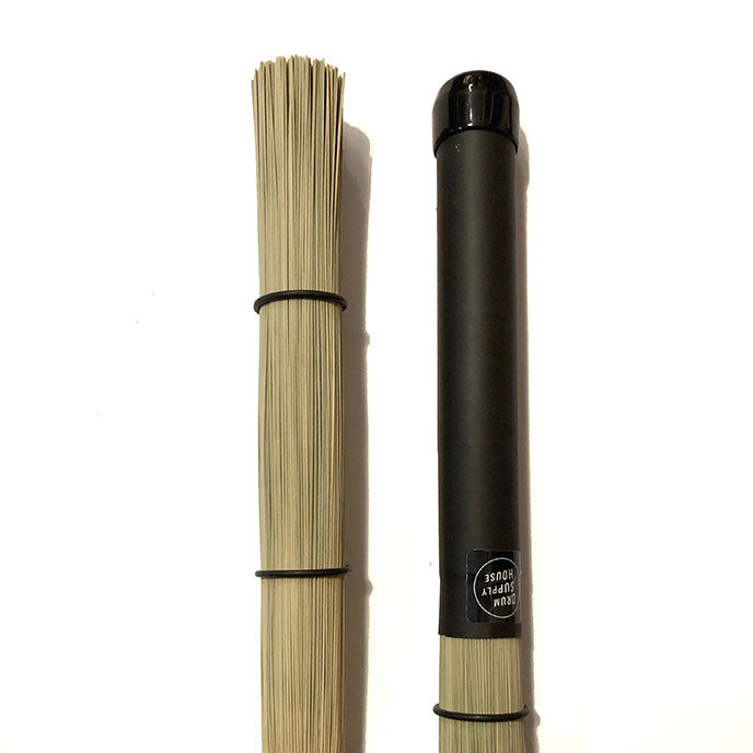 Straw Bristle Rods THINNER Plastic / Rubber Handle