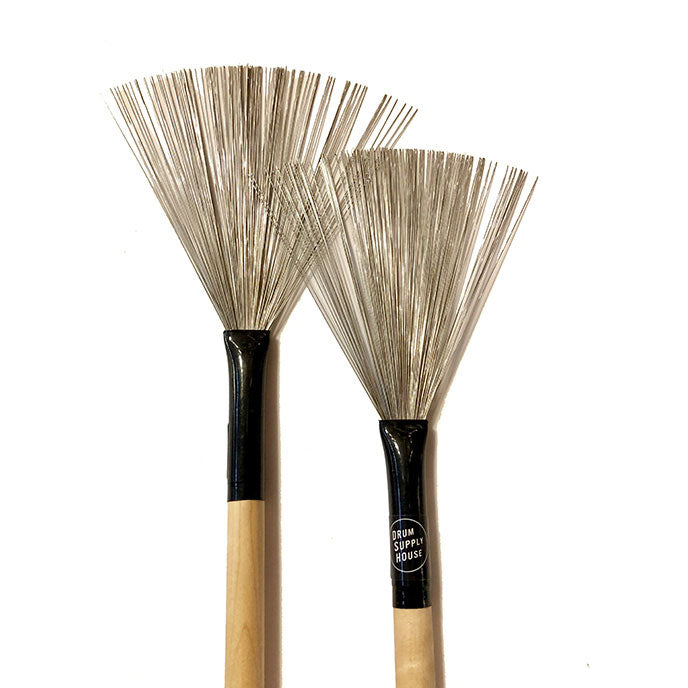 Wire Brushes Retractable / Maple Handle
