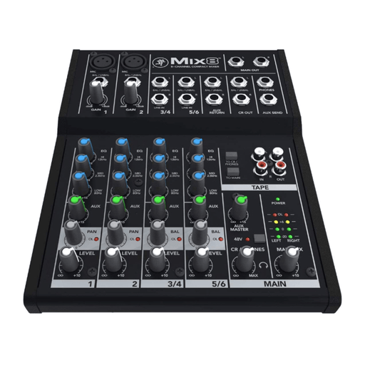Mackie Mix8 Mix Series 8-Channel Compact Mixer - Drum Supply House