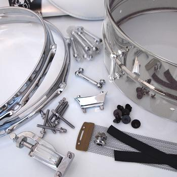 6.5x14 DIY Snare Kit - Steel Metal