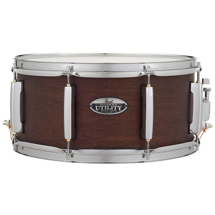 Pearl LTD Modern Utility Maple Snare Drum 6.5 x 14 - Satin Mahogany - Drum Supply House
