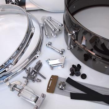 6.5x14 DIY Snare Kit - Black Brass Metal