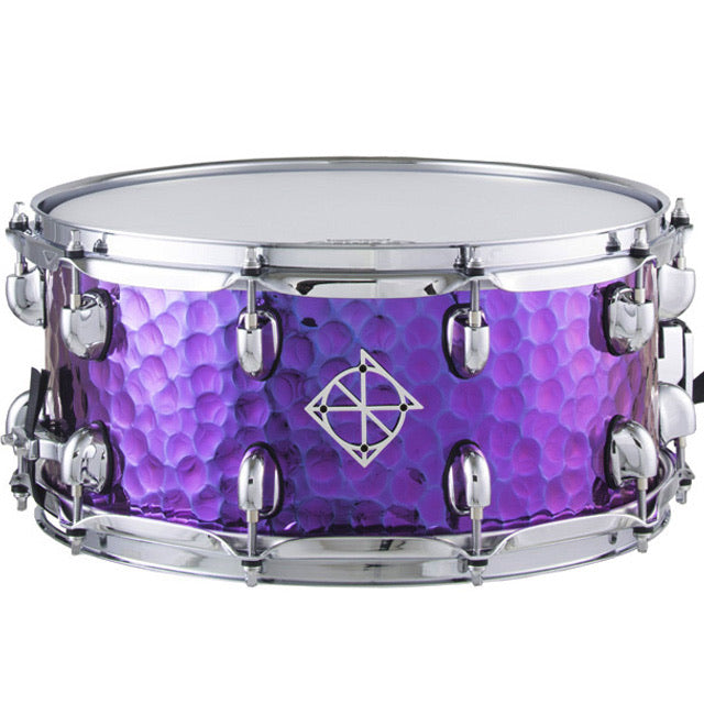 Dixon Cornerstone Purple Titanium Plated 6.5x14 Hammered Steel Snare Drum