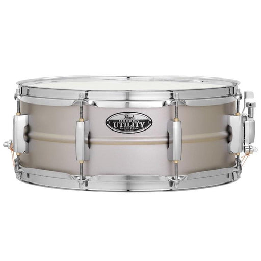 Pearl Modern Utility Pearl Steel Snare Drum 5.5 x 14 MUS1455S - Drum Supply House