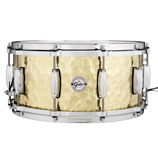 Gretsch Hammered Brass Snare Drum 6.5 x 14