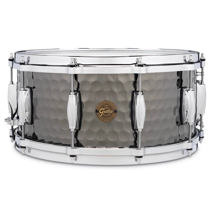 Gretsch Hammered Black Steel Snare Drum 6.5x14