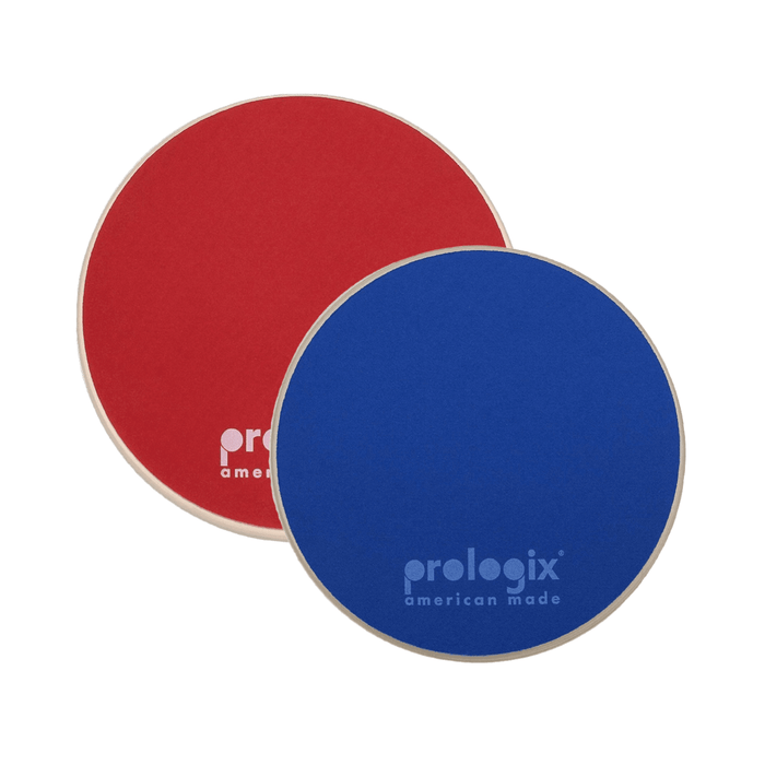 "Prologix Practice Pad - Dual Sided 6"" Red Storm + Blue Lightning - Drum Supply House"