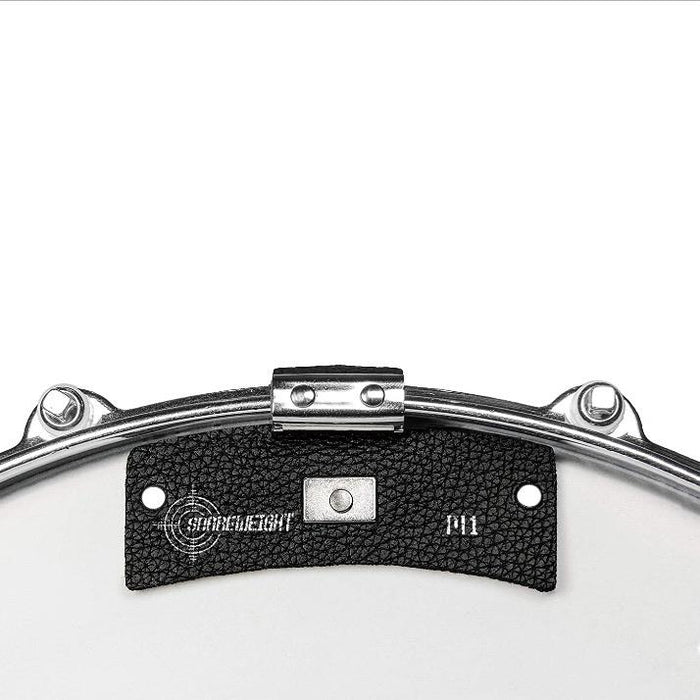 SNAREWEIGHT M1 BLACK Leather Drum Tone Control Dampener - Drum Supply House