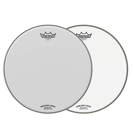 Remo Ambassador Coated/Hazy Drum 2 Head pack - 14 Inch