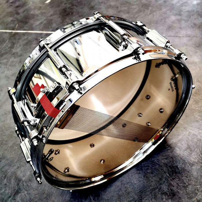 ASBA 5.5 x 14 Snare Drum - Chrome Over Steel DC hoops - Drum Supply House
