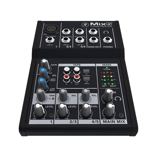 Mackie Mix5 Mix Series 5-Channel Compact Mixer - Drum Supply House