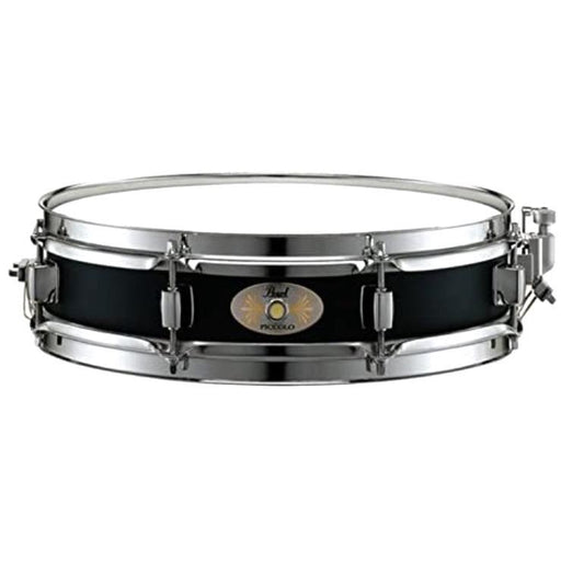 Pearl 3 x 13 Black Steel Piccolo Snare Drum - Drum Supply House