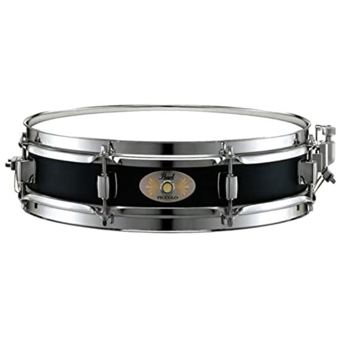 Pearl 3 x 13 Black Steel Piccolo Snare Drum