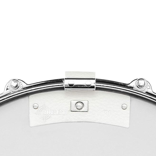 SNAREWEIGHT M1 WHITE Leather Drum Tone Control Dampener - Drum Supply House