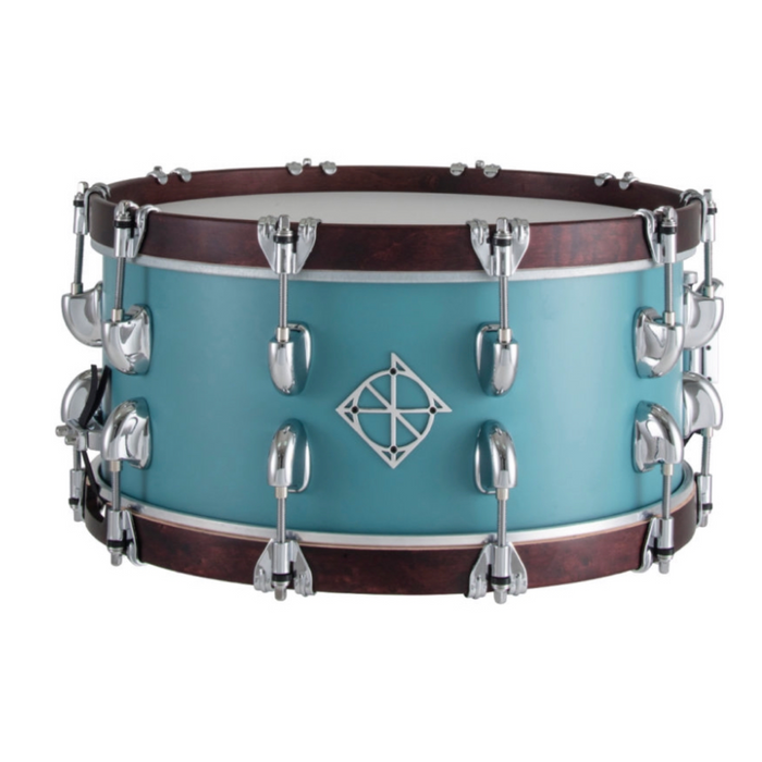 Dixon Cornerstone Maple Wood Hoop Snare Drum 6.5 x 14 in. Quetzal Blue