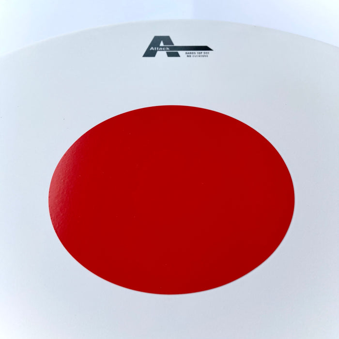 Attack Baron drumhead 14 in Coated Red Dot