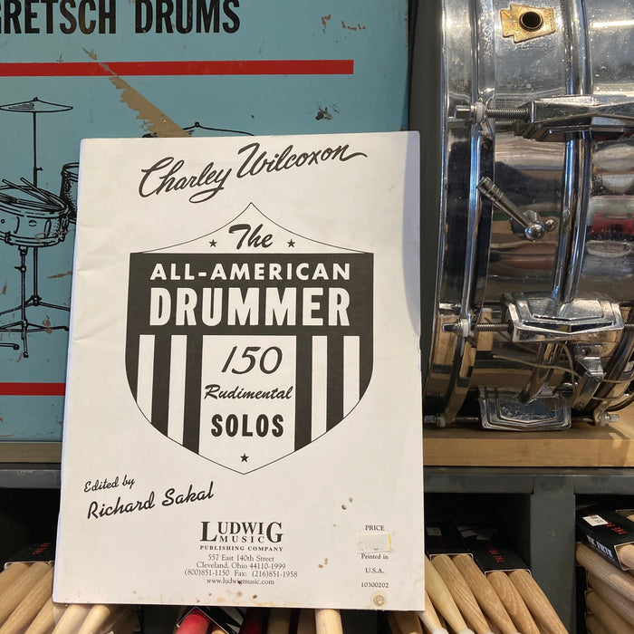 BOOK VINTAGE The All-American Drummer by Charley Wilcoxon RARE