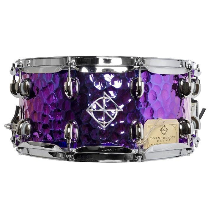Dixon Cornerstone Series Titainium Plated 6.5x14 Hammered Steel Snare Drum - Drum Supply House