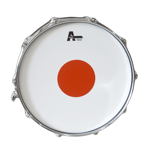 Attack Baron drumhead 14 in Coated Red Dot - Drum Supply House