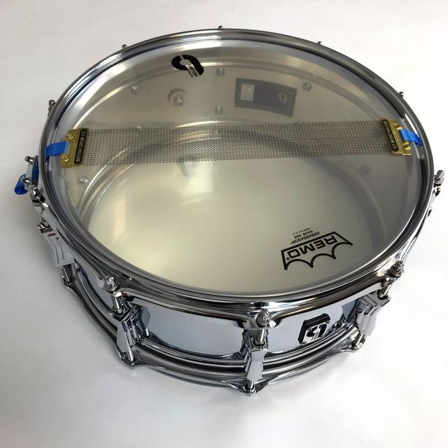 British Drum Co BlueBird Snare Drum - Chrome Over Heavy Brass
