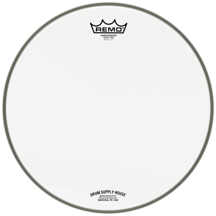 "Logo Ambassador drumhead Hazy Snare Side 14"" by Remo"