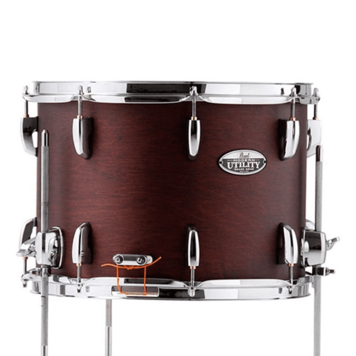 "Pearl Modern Utility Maple Floor Snare ""snom""10 x 14 - Satin Mahogany - Drum Supply House"