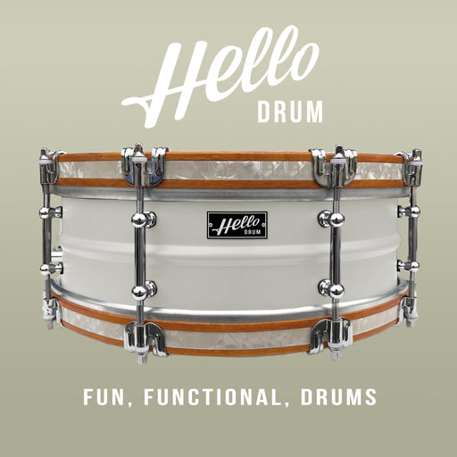 Hello Drum Snare - Satin White