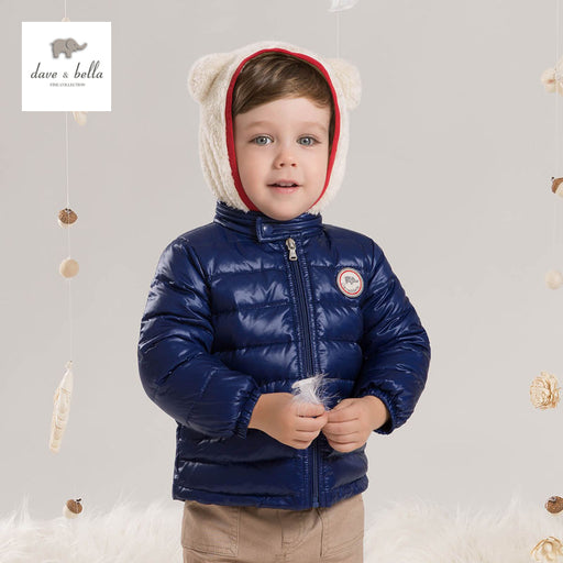 DB4662 DAVEBELLA baby boy down jacket children winter outerwear kids padding jacket
