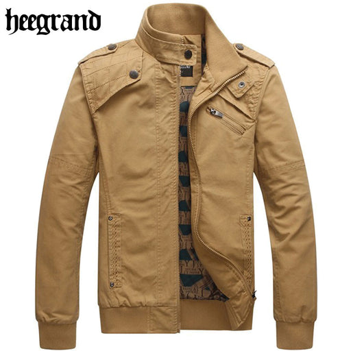 HEE GRAND 2017 Fashion Design Men Jacket  Casual Cotton High Quality Men Winter Coat Warm Jacket  MWJ16