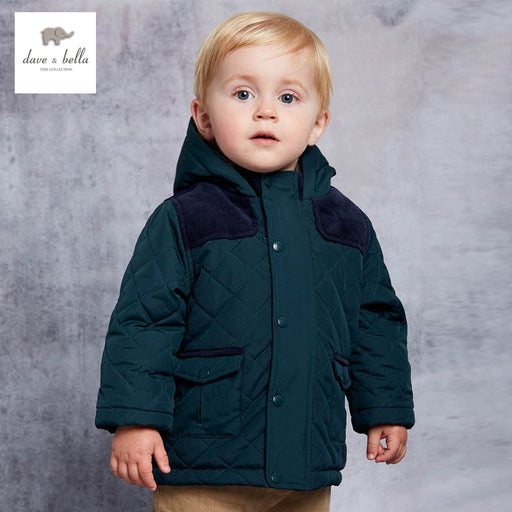 DB3869 davebella boys  jacket children padded jacket kids boutique outerwear green winter coat