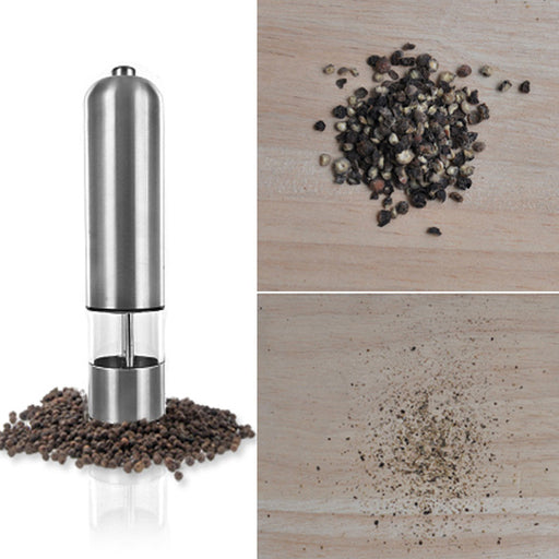 Electric, Stainless Steel Salt and Pepper Mill
