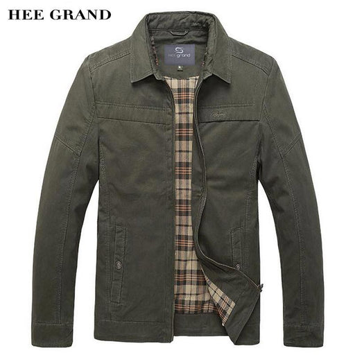 HEE GRAND Men Casual Jackets 2017 New Arrival Turn-Down Collar Wide-waisted Spring Autumn Solid Color Outwear Size M-3XL MWJ2290
