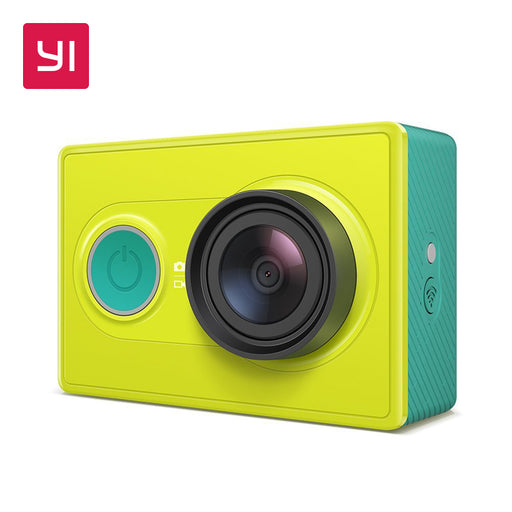 YI Action Camera 1080P Lime Green 16.0MP 155 degree Ultra-wide Angle 3D Noise Reduction WiFi Sports Mini Camera