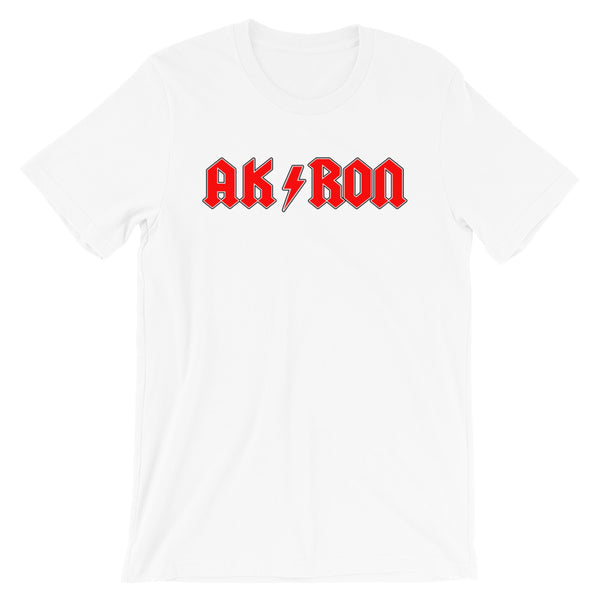 AK/RON RED WHITE Short-Sleeve Unisex T-Shirt - We Care Tees