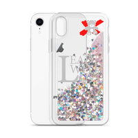 Lead with Love Silver Liquid Glitter iPhone Case - We Care Tees