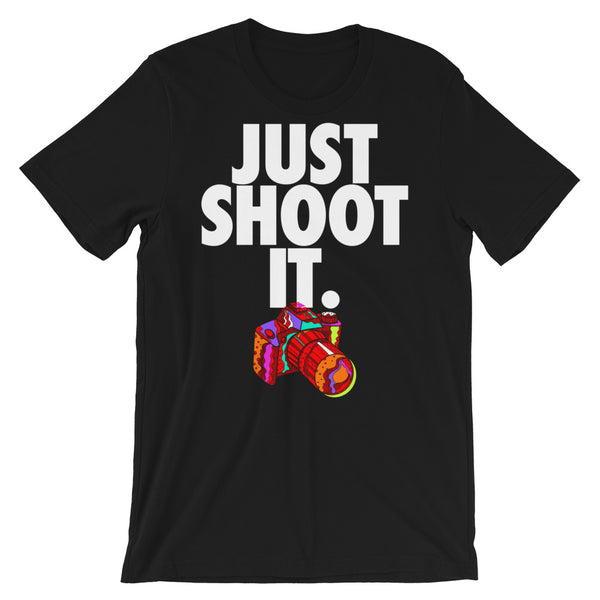 JUST SHOOT IT Short-Sleeve Unisex T-Shirt - We Care Tees