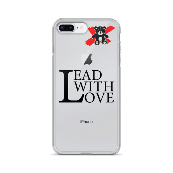 Lead with Love Black iPhone Case - We Care Tees
