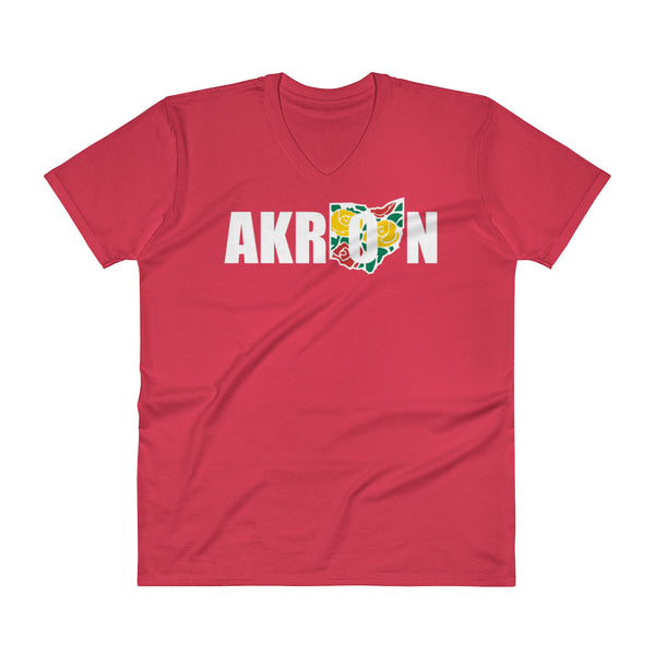 Beautiful Akron 2 V-Neck T-Shirt - We Care Tees