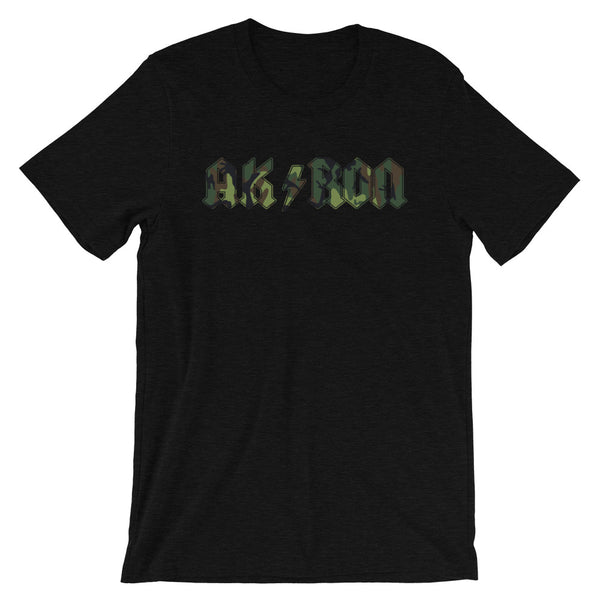 AK/RON CAMO 30 Short-Sleeve Unisex T-Shirt - We Care Tees