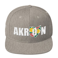 Beautiful Akron 2 Embroidered Snapback Hat - We Care Tees