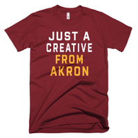 JUST A CREATIVE FROM AKRON | WINE & GOLD T-Shirt