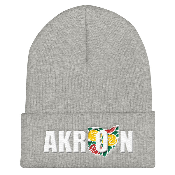 Beautiful Akron 2 Embroidered Beanie - We Care Tees