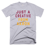 JUST A CREATIVE FROM AKRON | GREY WINE & GOLD T-Shirt