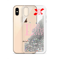 Lead with Love Pink Liquid Glitter iPhone Case - We Care Tees