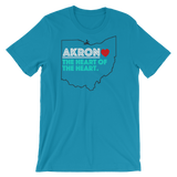 Akron Heart of The Heart Short-Sleeve Unisex T-Shirt - We Care Tees